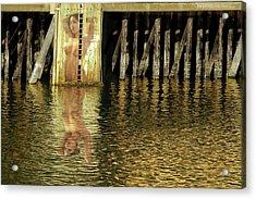 Nude Reflection Acrylic Print by Harry Spitz