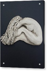 Nude Sculpture Acrylic Print by Melissa Florentino
