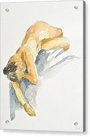 Nude Series Acrylic Print by Eugenia Picado
