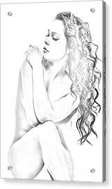 Nude Sketch Acrylic Print
