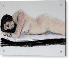 Nude Sleeper Acrylic Print