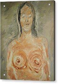 Nude Sleeping Acrylic Print by Edward Wolverton