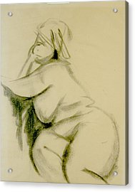 Nude Study Acrylic Print by Howard Stroman