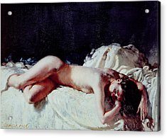 Nude Study Acrylic Print by Sir William Orpen