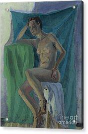 Nude  Acrylic Print by Timothy Winiarski