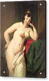 Nude Acrylic Print by William Etty
