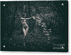 Nude Woman With Lots Of Bubbles Acrylic Print