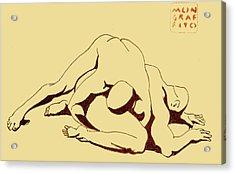 Nude Wrestlers 4 Acrylic Print