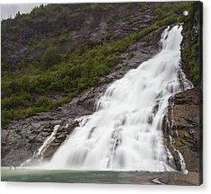 Acrylic Print featuring the photograph Nugget Falls, Alaska by Ed Clark