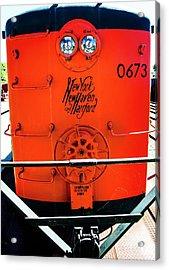 Number 0673 Train Acrylic Print by Karol Livote