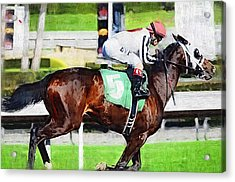 Number Five Horse Acrylic Print by Clarence Alford