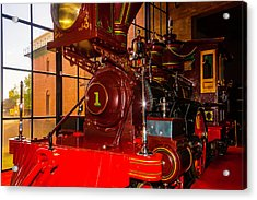 Number One C.p. Humtington Train Acrylic Print by Garry Gay