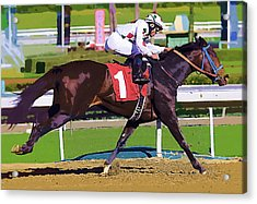 Number One Racing Acrylic Print by Clarence Alford