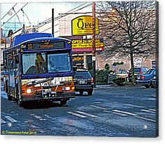 Number Ten Bus Acrylic Print