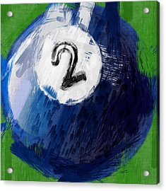 Number Two Billiards Ball Abstract Acrylic Print by David G Paul