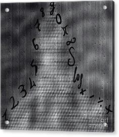 Numbers And Shadowman Acrylic Print