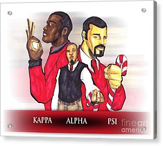 Nupes R' Us Acrylic Print by Tu-Kwon Thomas