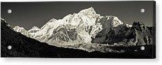 Acrylic Print featuring the photograph Nuptse Peak On The Khumbu Glacier by Owen Weber