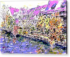 Nuremberg Northern Riverside Of Pegnitz Pop Art Series Acrylic Print