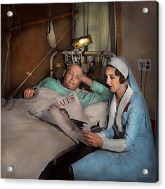 Nurse - Comforting Thoughts 1933 Acrylic Print by Mike Savad