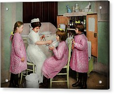 Acrylic Print featuring the photograph Nurse - Playing Nurse 1918 by Mike Savad