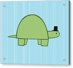 Nursery Art Boy Turtle Acrylic Print