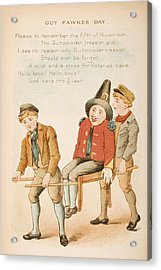 Nursery Rhyme And Illustration Of Guy Acrylic Print by Vintage Design Pics