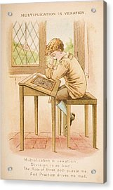 Nursery Rhyme And Illustration Of Acrylic Print