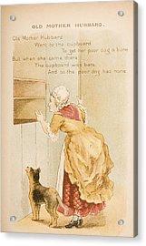 Nursery Rhyme And Illustration Of Old Acrylic Print