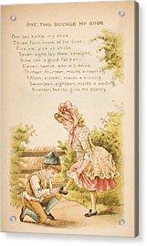 Nursery Rhyme And Illustration Of One Acrylic Print