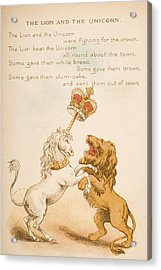 Nursery Rhyme And Illustration Of The Acrylic Print