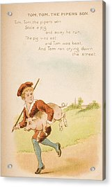 Nursery Rhyme And Illustration Of Tom Acrylic Print