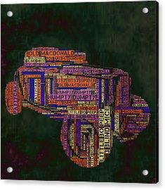 Nursery Rhyme Car Acrylic Print