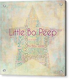 Nursery Rhymes Star Acrylic Print