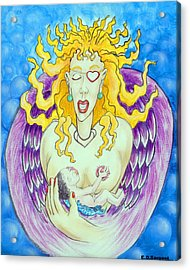 Nursing Angel Acrylic Print by Eddie Sargent