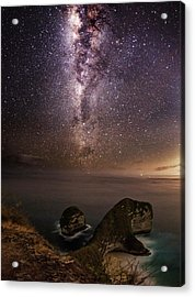 Nusa Penida Beach At Night Acrylic Print