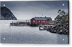 Acrylic Print featuring the photograph Nusfjord Rorbu by James Billings