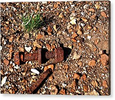 Nuts And Bolts Rusted Acrylic Print by Douglas Barnett
