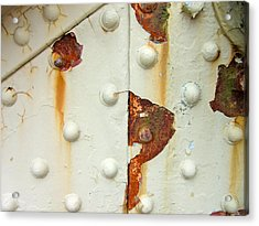 Nuts Bolts And Rust Acrylic Print by Richard Mansfield