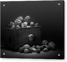 Acrylic Print featuring the photograph Nuts In Black And White by Tom Mc Nemar