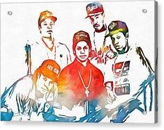 Nwa Color Tribute Acrylic Print by Dan Sproul