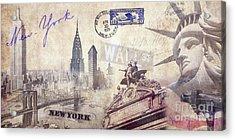 Ny City Acrylic Print by Jon Neidert