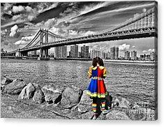 Ny Costume Party Acrylic Print by Alessandro Giorgi Art Photography
