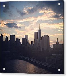 New York At Dusk  Acrylic Print