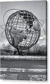 Ny Worlds Fair Unisphere Bw Acrylic Print
