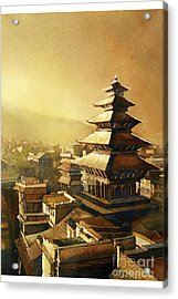 Nyatapola Temple- Nepal Acrylic Print by Ryan Fox