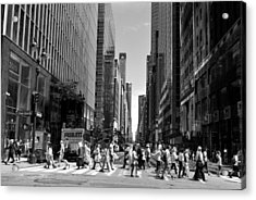 Nyc 42nd Street Crosswalk Acrylic Print