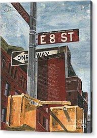 Nyc 8th Street Acrylic Print by Debbie DeWitt