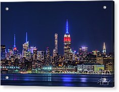Nyc At The Blue Hour Acrylic Print