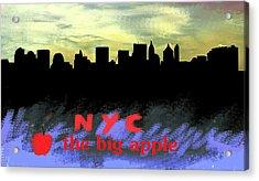 Nyc Big Apple Skyline  Acrylic Print by Enki Art